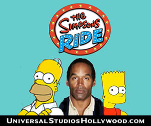 fake Simpsons Ride ad