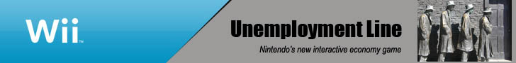 Wii Unemployment Line game ad