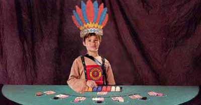 Indian Guides blackjack table