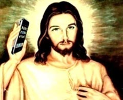 Jesus with an iPhone