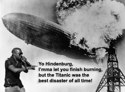 Kanye West interrupts Hindenburg disaster