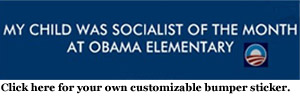 My child was socialist of the month bumper sticker