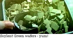 Soylent Green wafers - yum!